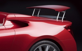 Wallpaper machine, red, lexus, red, spoiler, cars, auto, Lexus