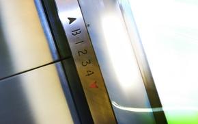 Wallpaper metal, floors, lift