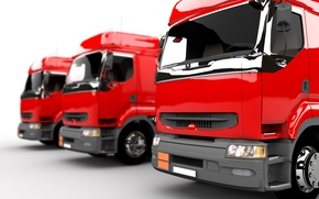 Picture truck, drawing, graphics red