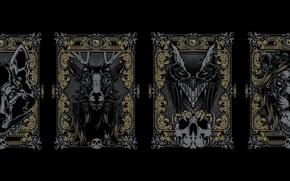 Picture Minimalism, Deer, Leo, Wolf, Art, Art, Black, Minimalism, Owl, Joshua M. Smith (Hydro74)