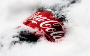 Picture SNOW, DRINK, WINTER, BOTTLE, BRAND, COCA-COLA, COCA-COLA