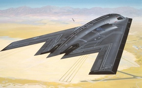 Picture aviation, Wallpaper, the plane, Northrop B2 Bomber