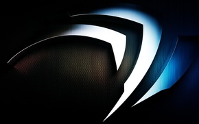 Picture nvidia, metal, logo, background, brand, technology, metal logo