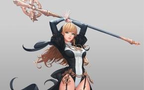 Wallpaper look, girl, pose, background, anime, art
