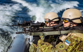 Picture weapons, soldiers, Estonian Defence Force