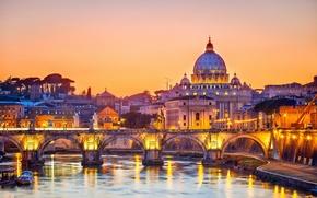 Picture bridge, the city, Rome