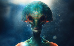 Picture face, art, alien, Visitor