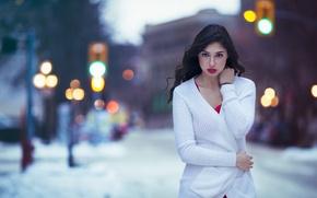 Picture Canada, Model, White, View, Jacket, Winnipeg, Kallie