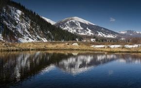 Wallpaper lake, mountains, Kazakhstan