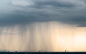 Wallpaper clouds, the city, rain