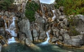 Wallpaper water, rocks, waterfalls, stones