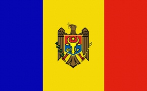 Picture Flag, Coat of arms, Moldova, Moldova