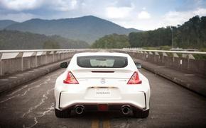 Picture Nissan, rain, drops, 370Z, Nismo, rear end