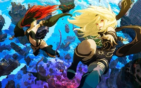 Picture girls, art, Sony, Kat, Raven, gravity rush 2
