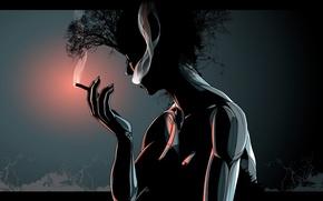 Picture smoke, Vector, cigar