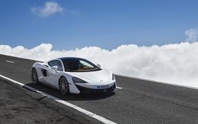 Picture road, auto, the sky, clouds, McLaren, 570GT