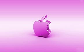 Wallpaper computer, rendering, apple, Apple, mac, emblem, gadget