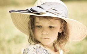 Picture portrait, girl, hat