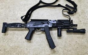 Picture weapons, lantern, staples, tactical, gun machine gun, when, help, special, strap, Russia., PP-19-01, Vityaz-SN, (2x60), …