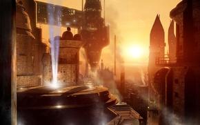 Picture the city, future, castle, fiction, science fiction, sci-fi, Scott Richard, futurism, Citizen in the Temple