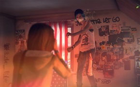 Picture on the bed, Chloe, Max, Life is Strange, Dancing