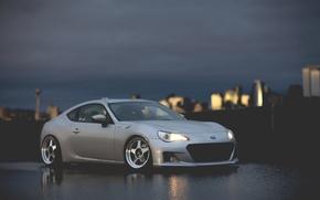 Picture night, coupe, Subaru, sports car, Subaru, brz, quick
