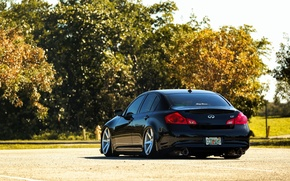 Picture black, Infiniti, black, infiniti, sedan, G37, rearside