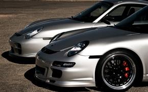 Picture road, silver, wheel, 911, Porsche, silver, disk, Porsche, road, front, rim