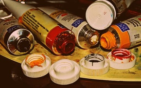 Picture paint, oil, brush, art, set painter