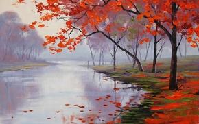 Wallpaper ART, FIGURE, ARTSAUS, LAKE SIDE COLORS
