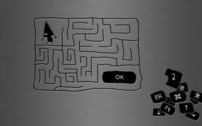 Wallpaper Maze, the cursor, button