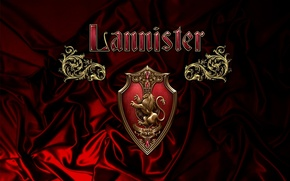Picture red, golden, gold, heart, lion, A Song of Ice and Fire, Game of Thrones, Winterfell, ...