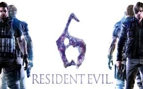 Picture gun, weapons, gun, pistol, Resident Evil 6, Leon Scott Kennedy, Chris Redfield, Biohazard 6