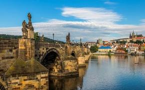 Picture river, Prague, Czech Republic, Charles bridge