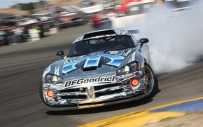 Picture smoke, speed, skid, Dodge, pilot, drift, Viper, srt10