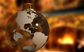 Picture earth, toy, new year, ball, Christmas, christmas, new year