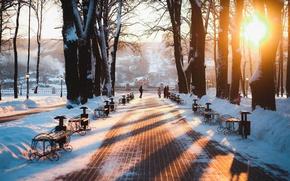 Picture winter, the city, Park, Russia, Russia, Kaluga, Kaluga