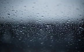 Picture glass, drops, texture