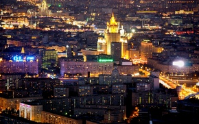 Picture night, Moscow, Russia, Russia, night, Moscow