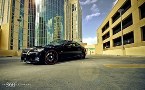 Wallpaper reflection, Forged, 335i, Split seven, the city, 360, building, BMW