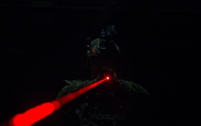 Wallpaper laser sight, male, soldiers, equipment