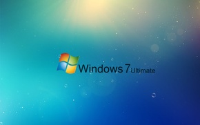 Wallpaper rays, bubbles, Windows, Ultimate