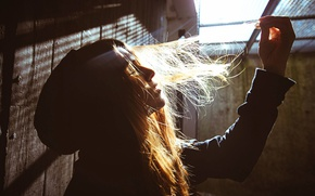Picture girl, hair, lighting, Vivienne, Martin Neuhof