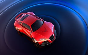 Picture red, spoiler, sports car