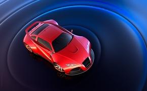 Wallpaper red, spoiler, sports car