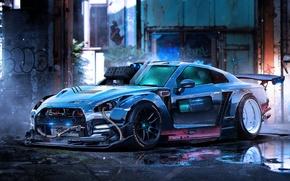 Picture Nissan, GT-R, Car, Art, Color, R35, Sport, by Khyzyl Saleem