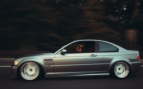 Picture girl, movement, bmw, BMW, girl, motion, m3 e46