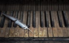 Picture music, pen, piano