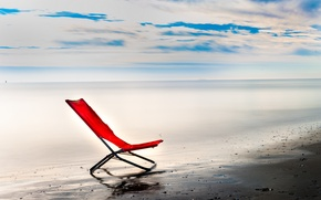 Picture sea, the sky, chair