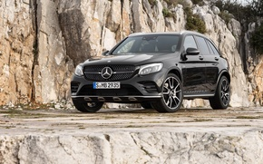 Wallpaper Mercedes-Benz, black, Black, AMG, Mercedes, GLC-Class, SUV, X253